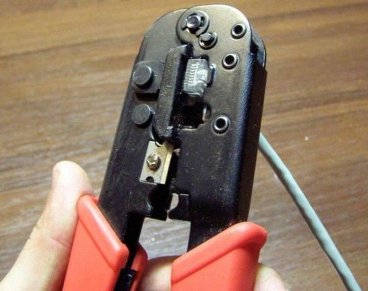 ремонт интернет кабеля