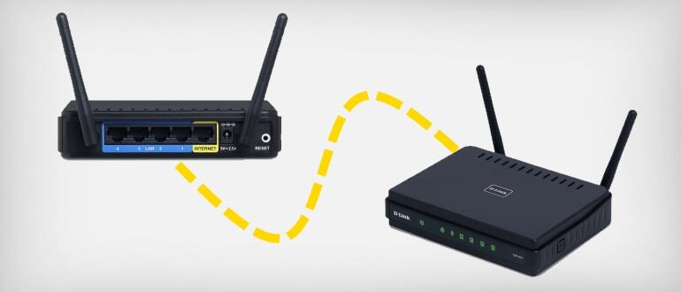 Как соединить два роутера по кабелю